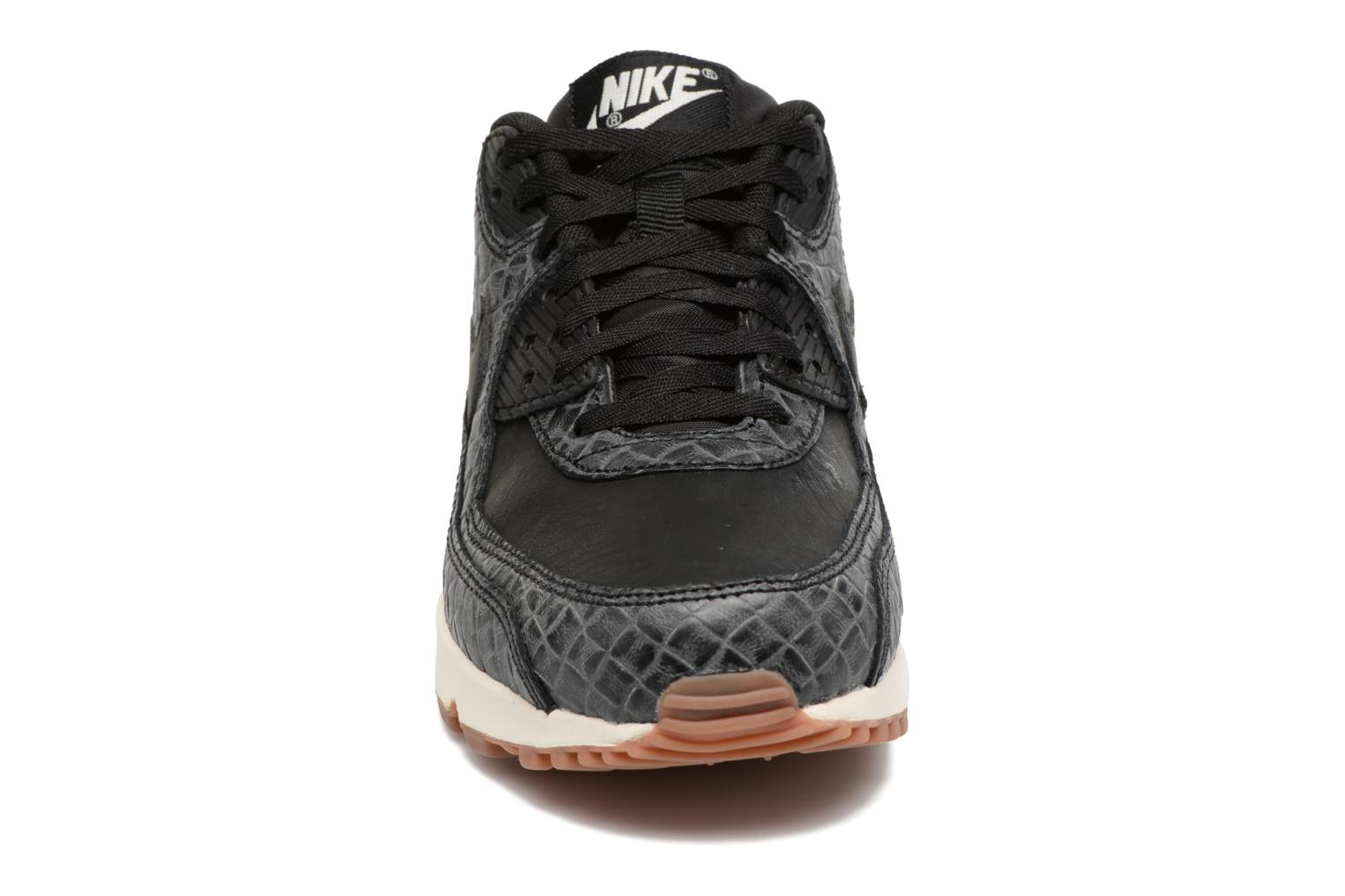 Wmns Air Max 90 Prem Black/black-sail-gum med brown