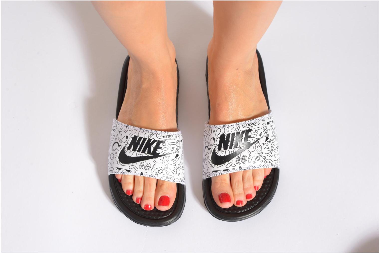 Mules et sabots Nike Wmns Benassi Jdi Print Orange vue bas / vue portée sac