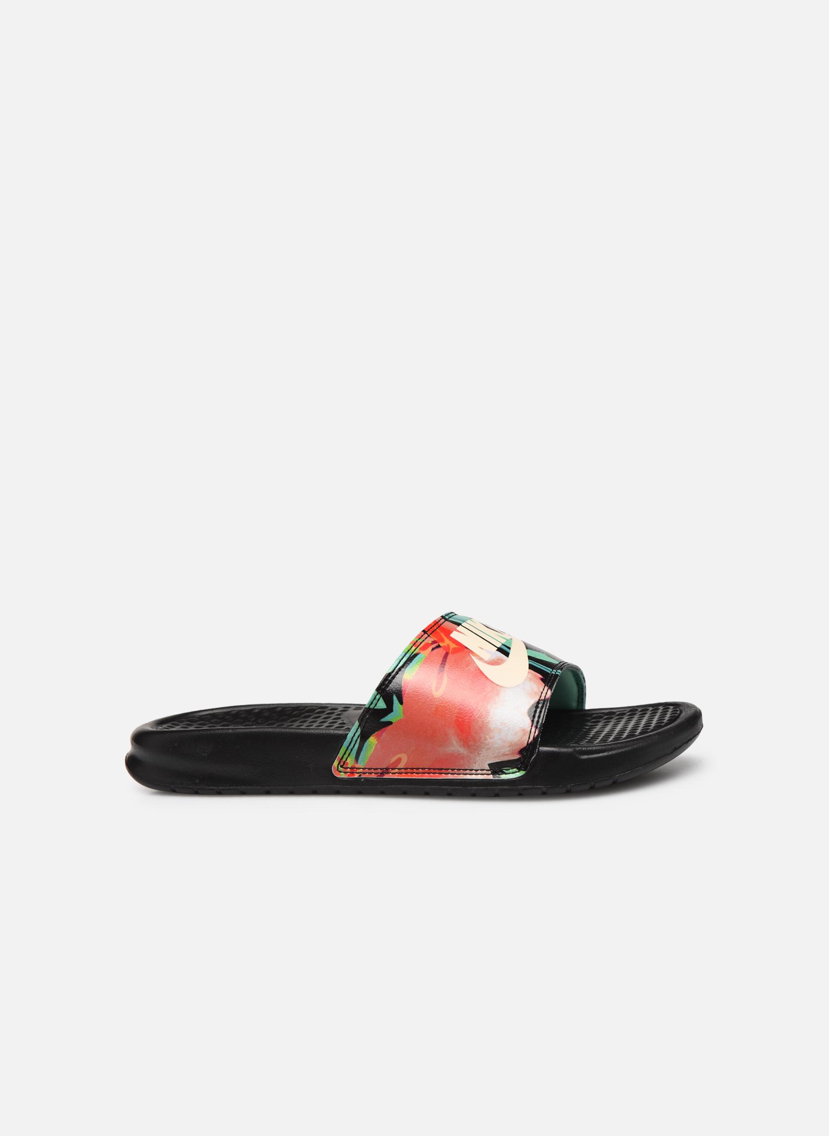 Zoccoli Nike Wmns Benassi Jdi Print Nero immagine posteriore