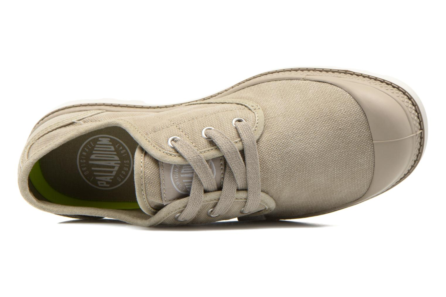 Trainers Palladium Us Oxford Lp F Beige view from the left