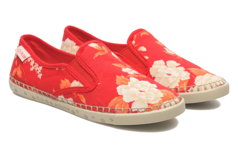 Baskets P-L-D-M By Palladium Bora Big Flower Rouge vue 3/4