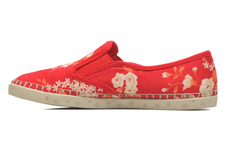 Baskets P-L-D-M By Palladium Bora Big Flower Rouge vue face