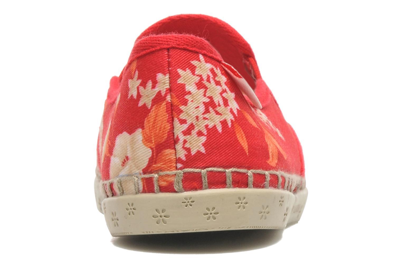 Baskets P-L-D-M By Palladium Bora Big Flower Rouge vue droite