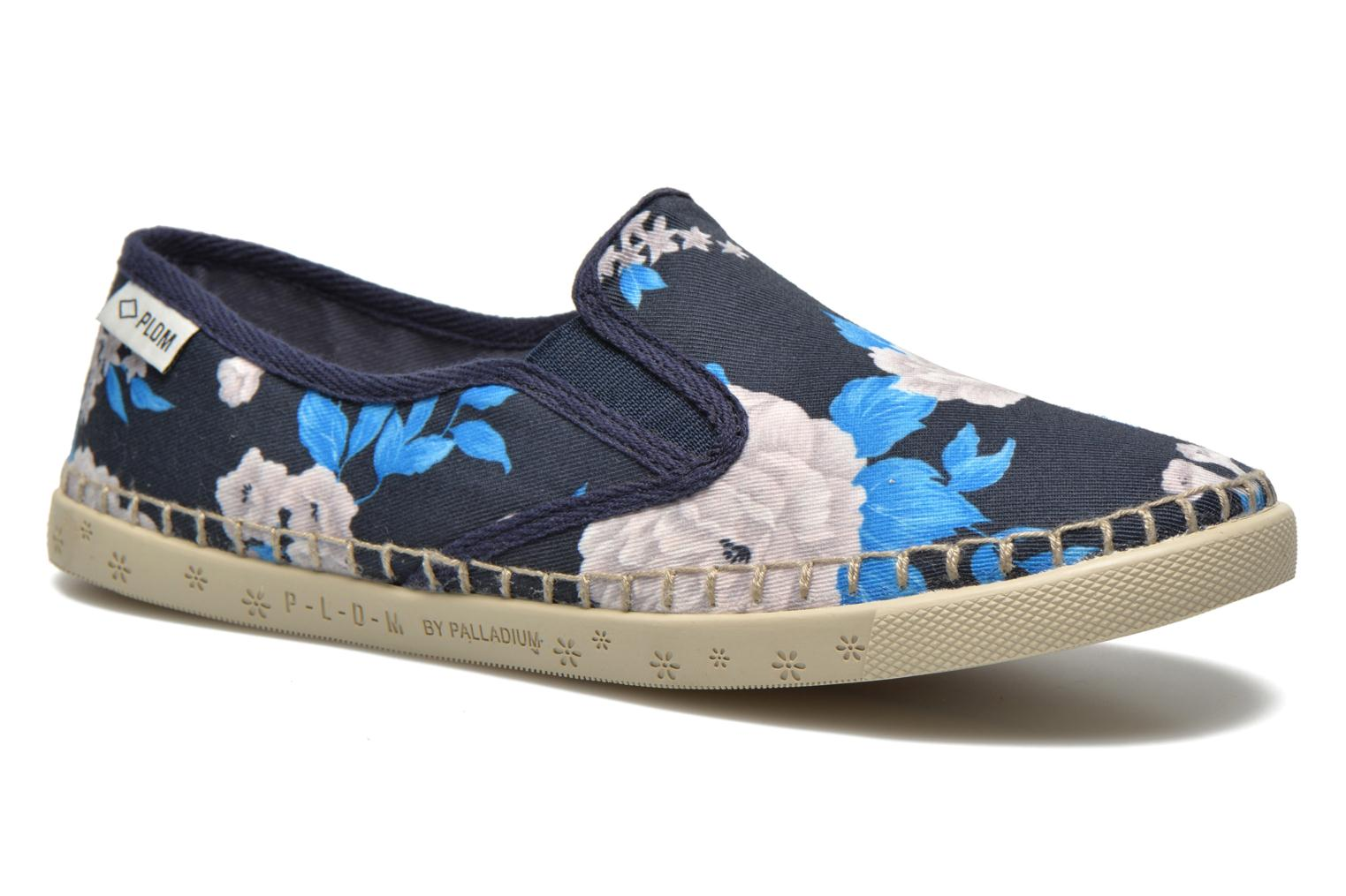 Trainers P-L-D-M By Palladium Bora Big Flower Blue detailed view/ Pair view