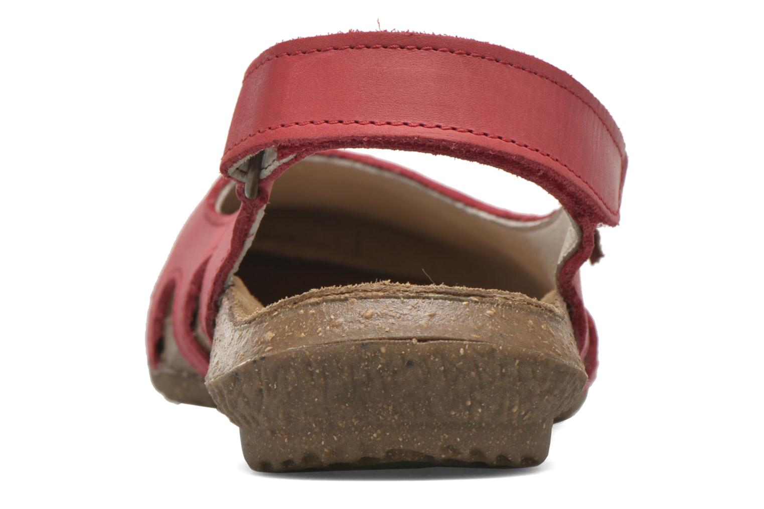 Mules & clogs El Naturalista Wakataua N413 Red view from the right