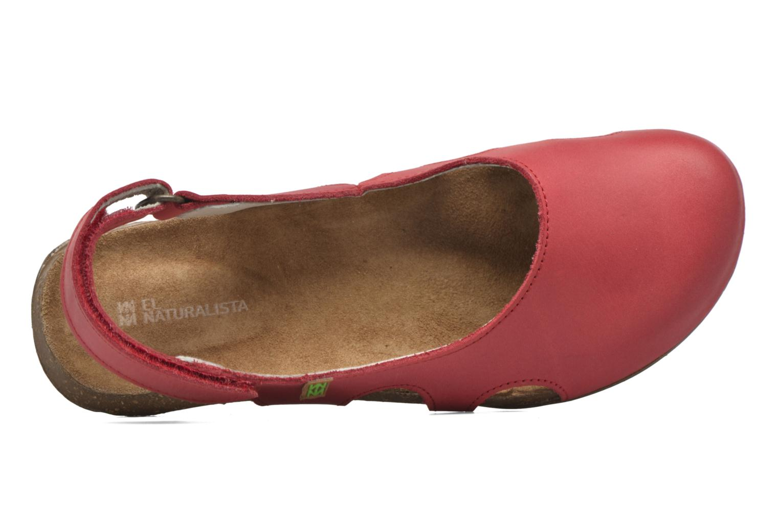 Mules & clogs El Naturalista Wakataua N413 Red view from the left