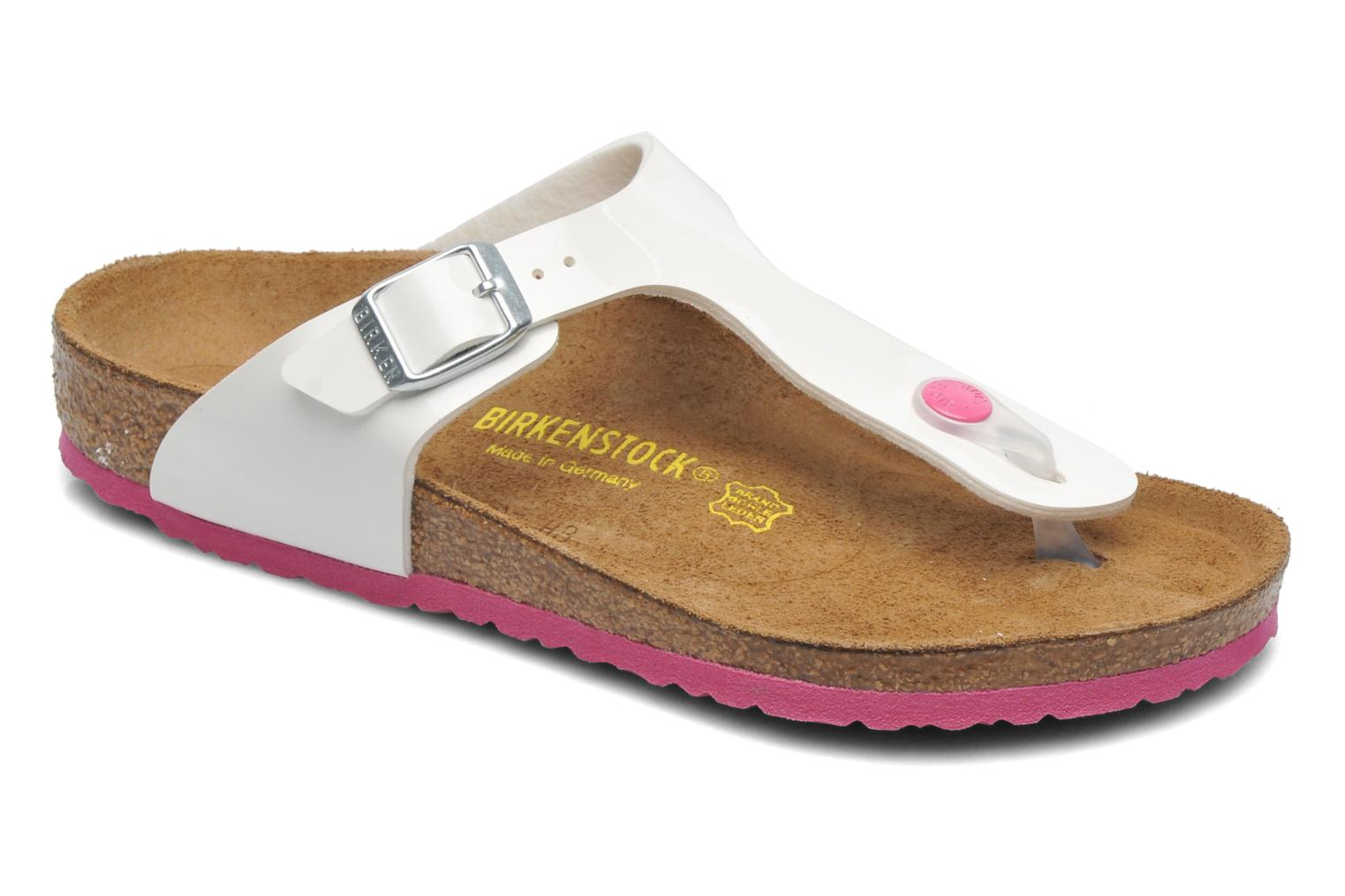 Flip flops Birkenstock GIZEH White detailed view/ Pair view