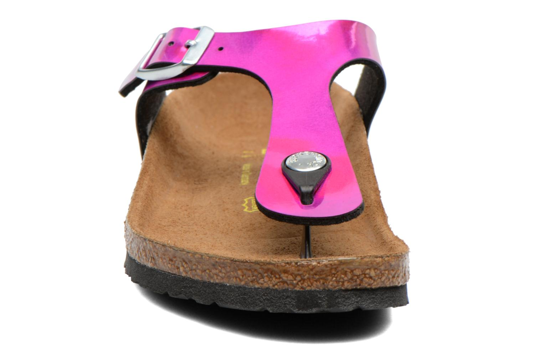 Tongs Birkenstock GIZEH Rose vue portées chaussures
