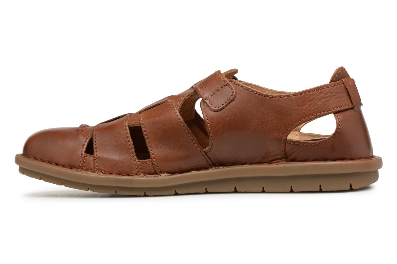 Sandales et nu-pieds Kickers Vidal Marron vue face