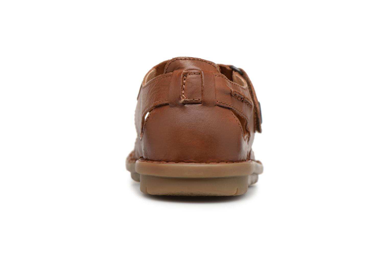 Sandales et nu-pieds Kickers Vidal Marron vue droite