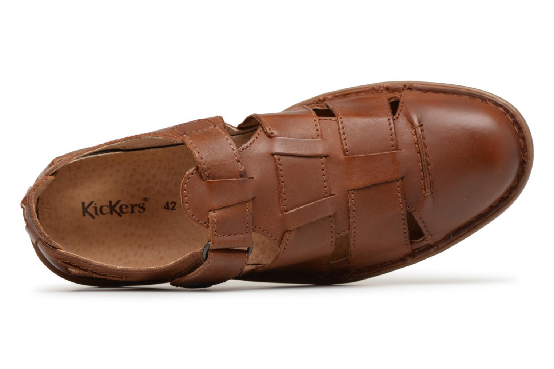 Sandales et nu-pieds Kickers Vidal Marron vue gauche