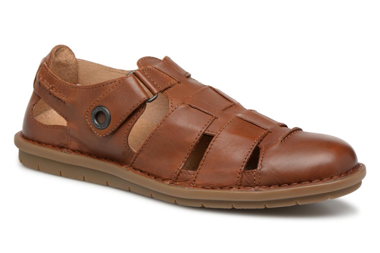 Sandales et nu-pieds Kickers Vidal Marron vue détail/paire