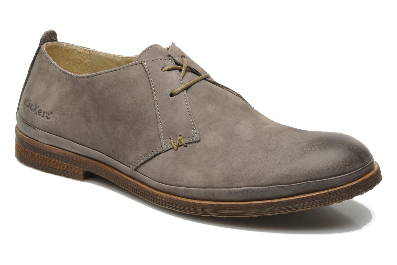 Chaussures à lacets Kickers Flavis Gris vue détail/paire