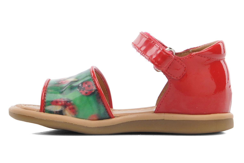 Sandales et nu-pieds Shoo Pom Tity Back Sandal Rouge vue face