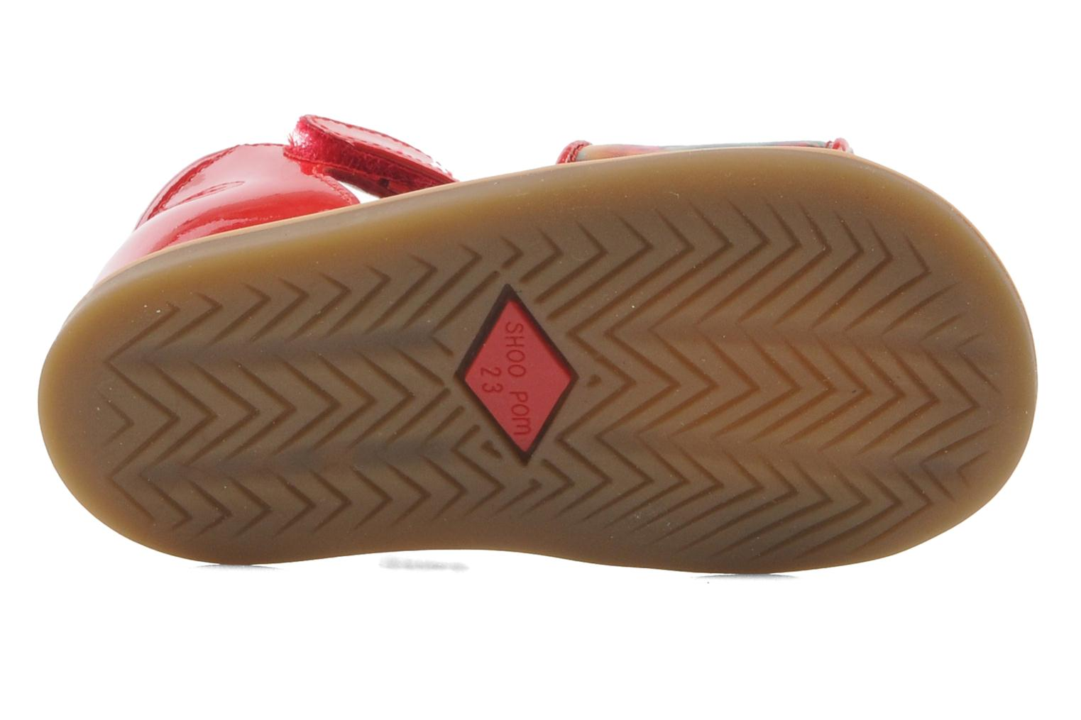Sandals Shoo Pom Tity Back Sandal Red view from above