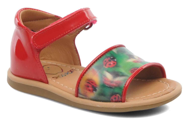 Sandales et nu-pieds Shoo Pom Tity Back Sandal Rouge vue détail/paire