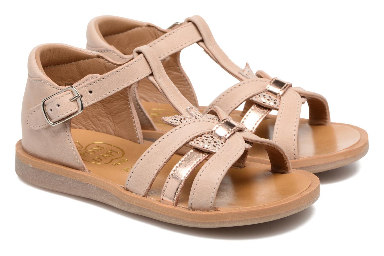 Sandales et nu-pieds Pom d Api POPPY APPLE Beige vue 3/4