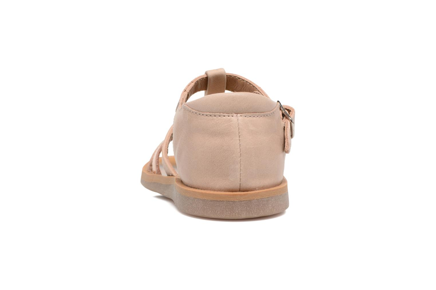 Sandals Pom d Api POPPY APPLE Beige view from the right