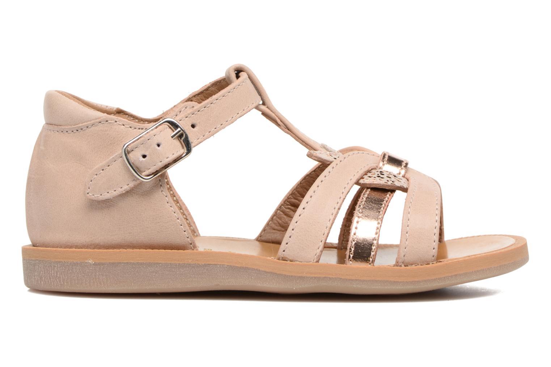 Sandales et nu-pieds Pom d Api POPPY APPLE Beige vue derrière