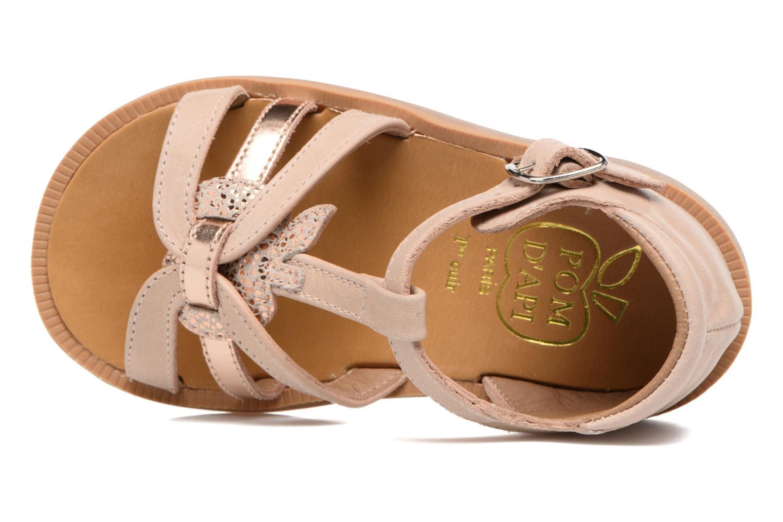 Sandales et nu-pieds Pom d Api POPPY APPLE Beige vue gauche