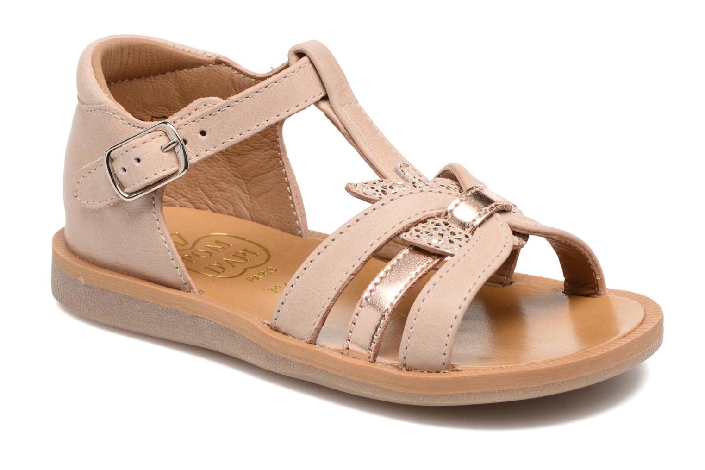 Sandales et nu-pieds Pom d Api POPPY APPLE Beige vue détail/paire