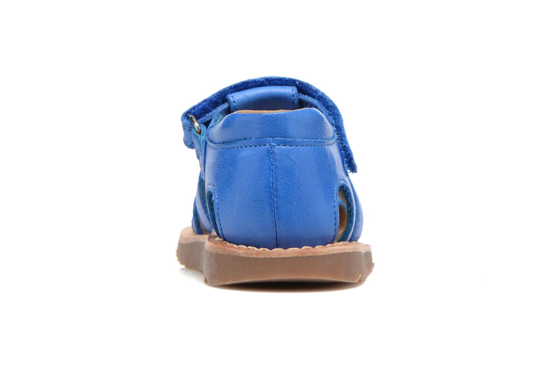 Sandales et nu-pieds Pom d Api Waff Papy Bleu vue droite