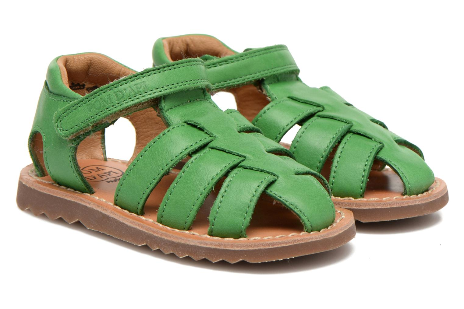 Sandals Pom d Api Waff Papy Green 3/4 view