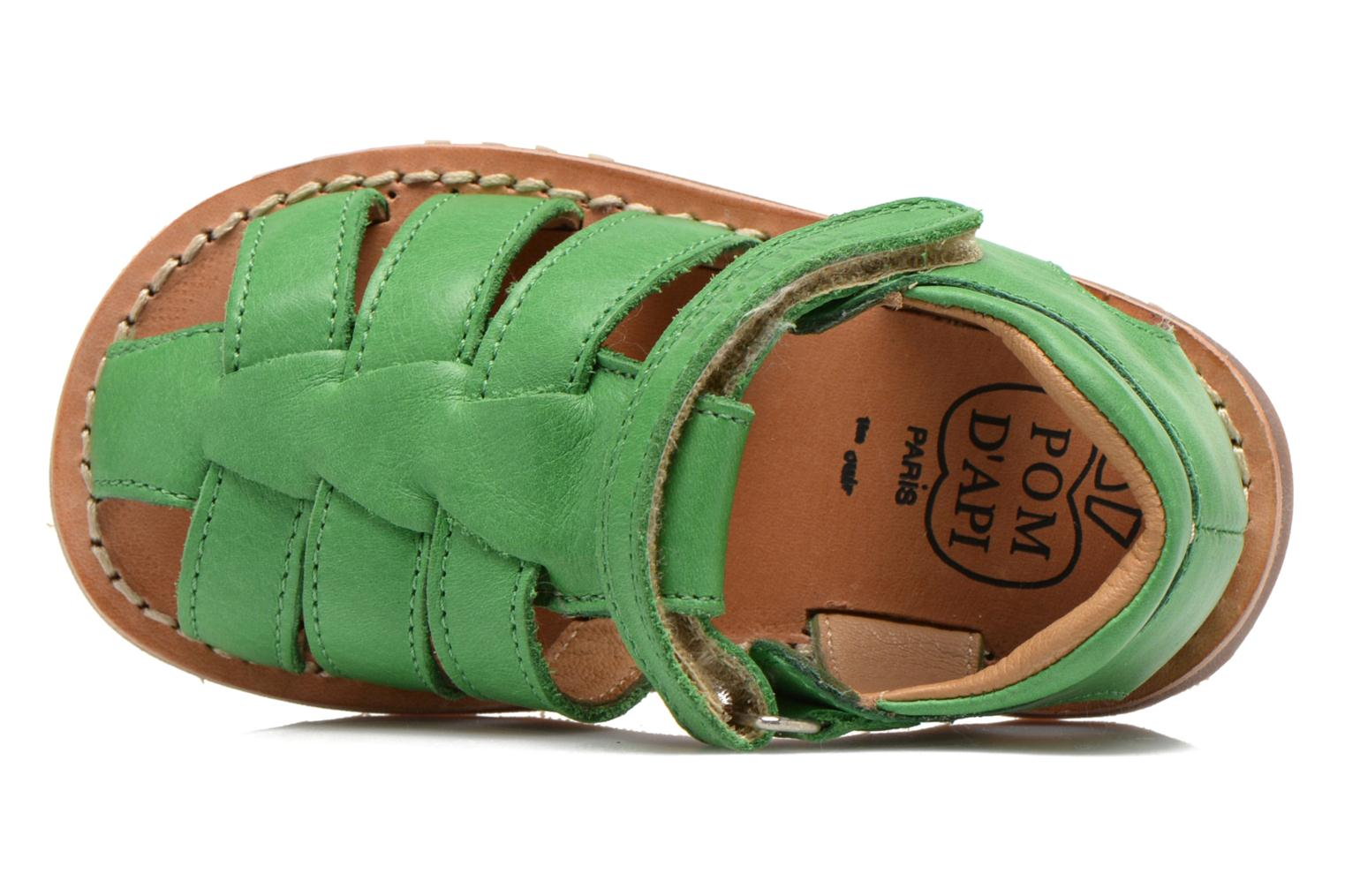 Sandals Pom d Api Waff Papy Green view from the left