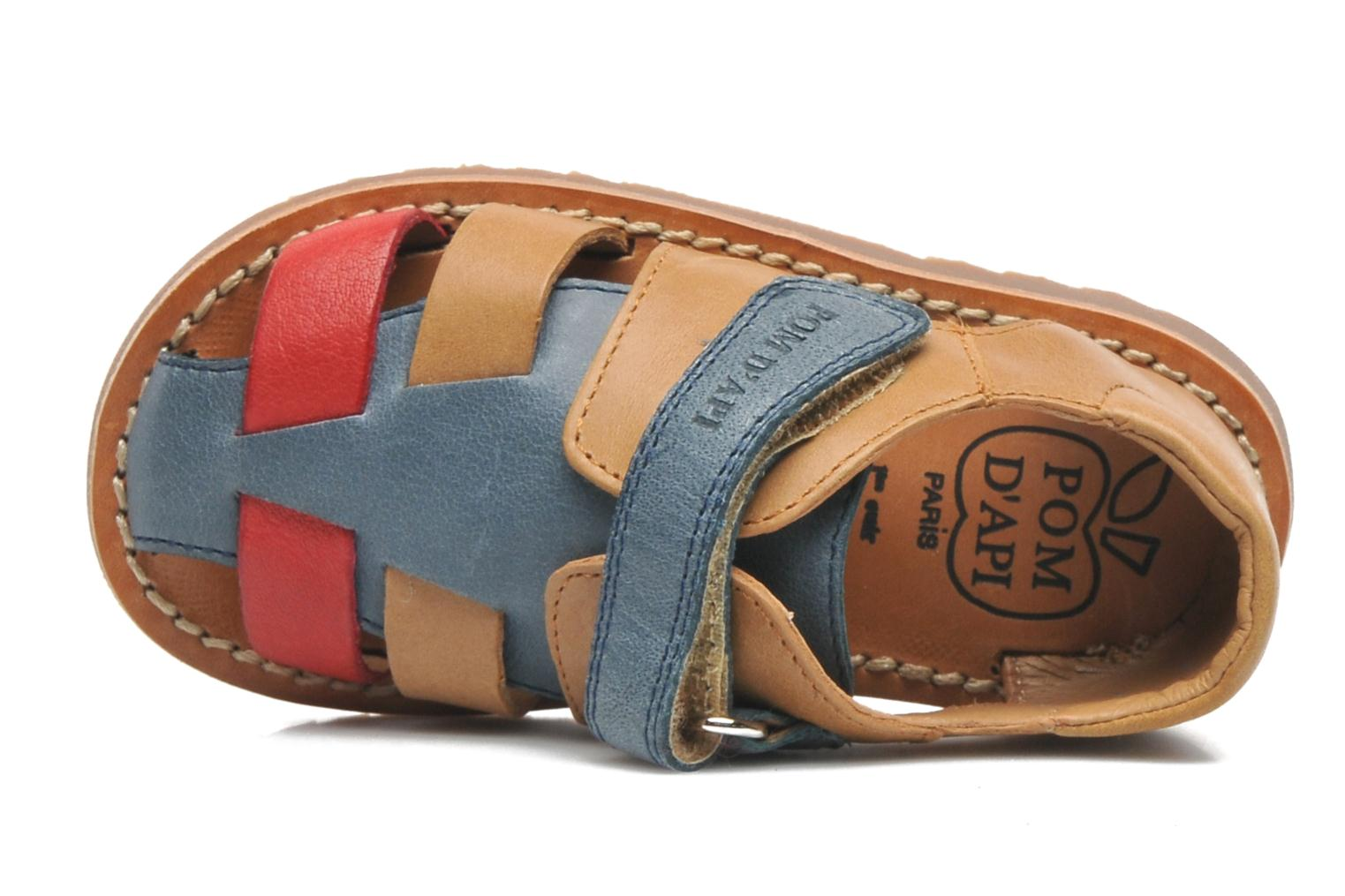 Sandals Pom d Api WAFF BOB Multicolor view from the left