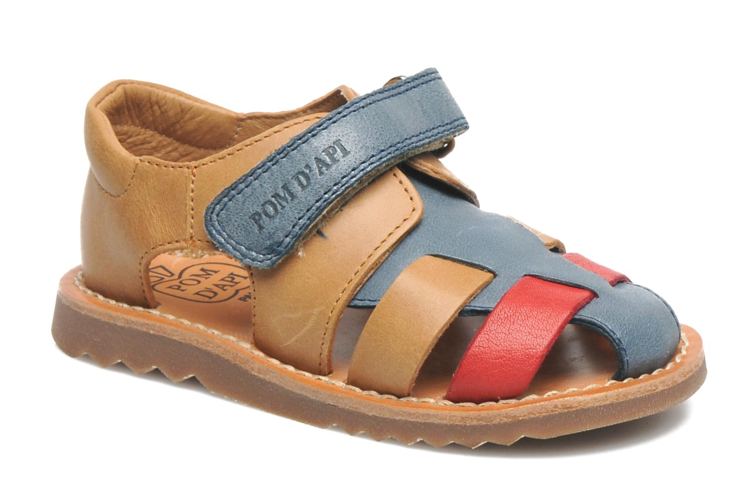 Sandals Pom d Api WAFF BOB Multicolor detailed view/ Pair view