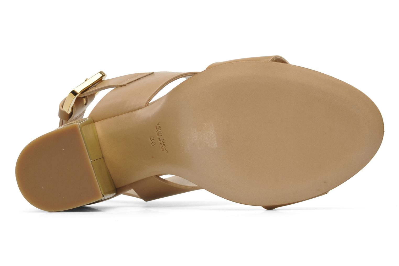 Sandals Rebecca Balducci Ruby Beige view from above