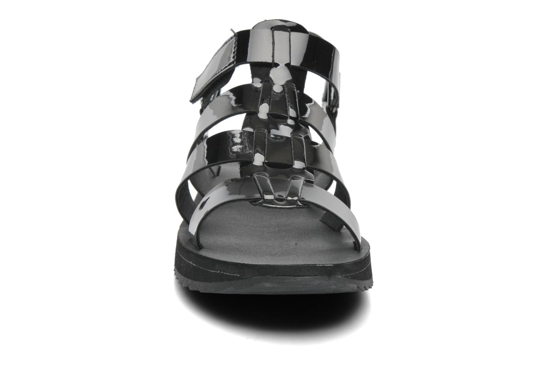 Sandales et nu-pieds Eleven paris Duse F Noir vue portées chaussures
