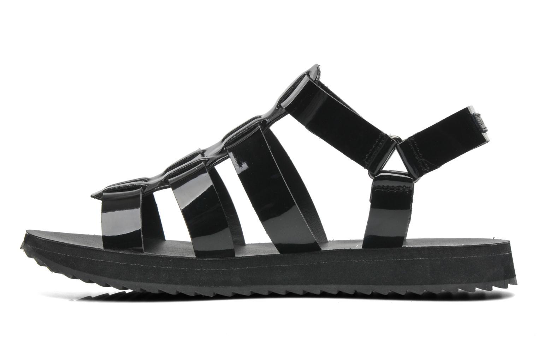 Sandales et nu-pieds Eleven paris Duse F Noir vue face