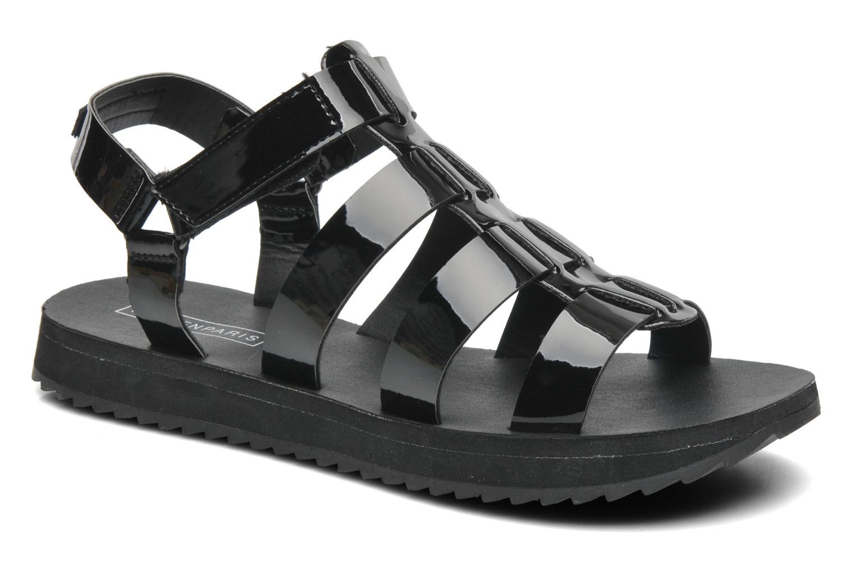 Sandales et nu-pieds Eleven paris Duse F Noir vue détail/paire