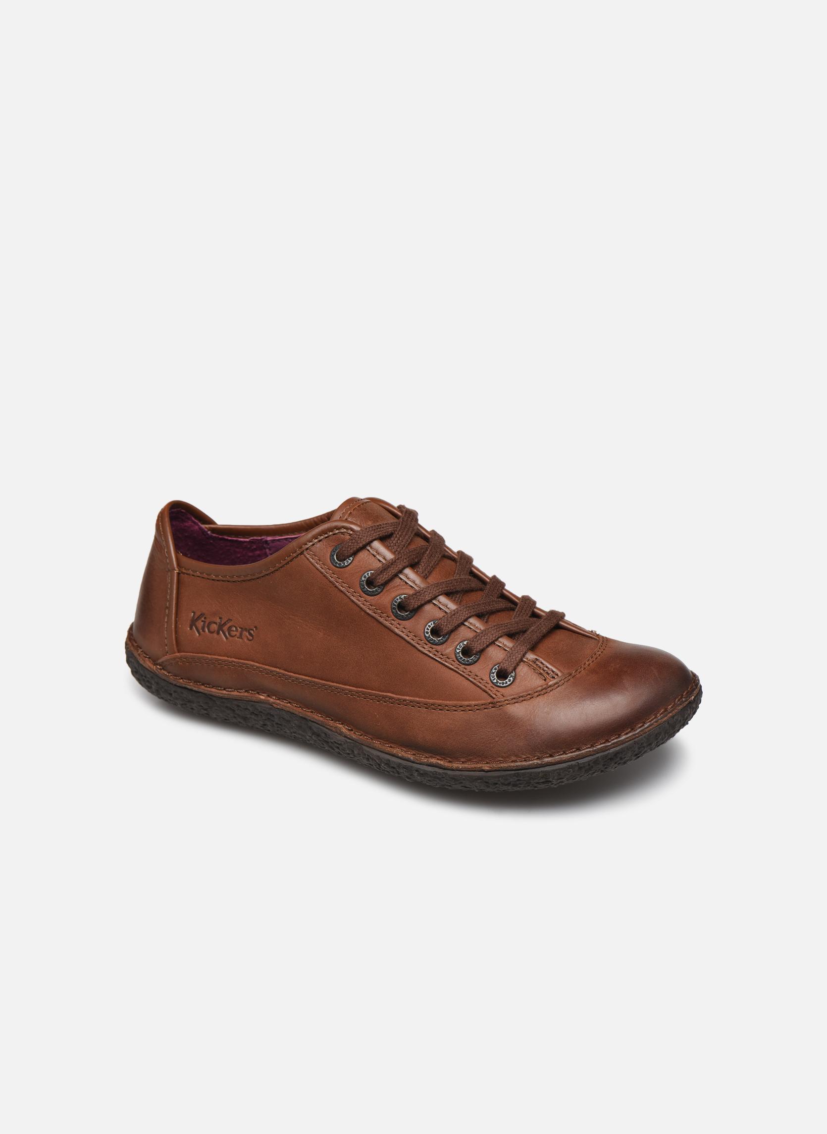 Chaussures à lacets Kickers Hollyday Marron vue détail/paire