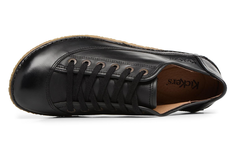 Zapatos con cordones Kickers Hollyday Negro vista lateral izquierda