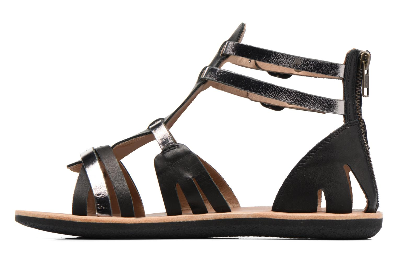 Sandalen Kickers Spartiaten schwarz ansicht von vorne