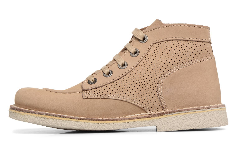 Chaussures à lacets Kickers Legendiknew Beige vue face