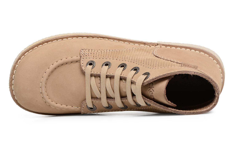 Chaussures à lacets Kickers Legendiknew Beige vue gauche