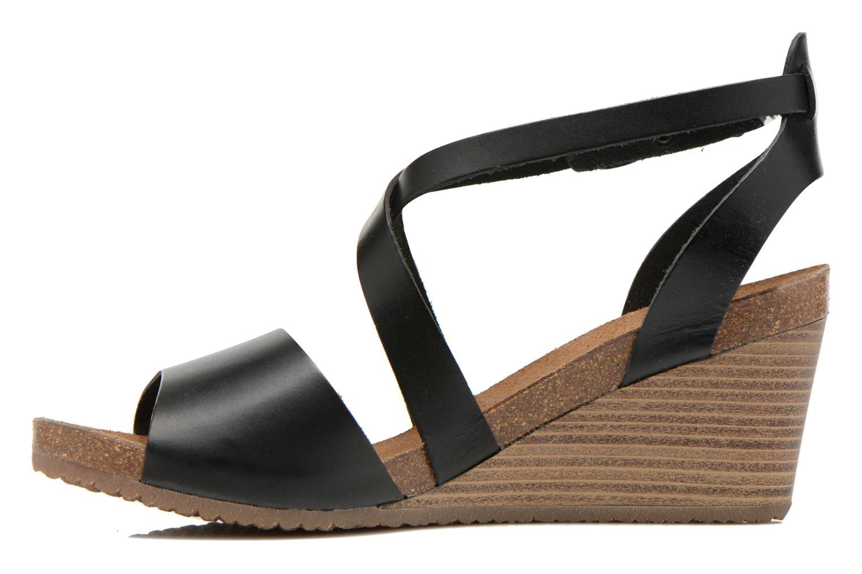 Sandales et nu-pieds Kickers Spagnol Noir vue face
