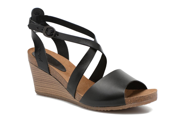 Sandales et nu-pieds Kickers Spagnol Noir vue détail/paire