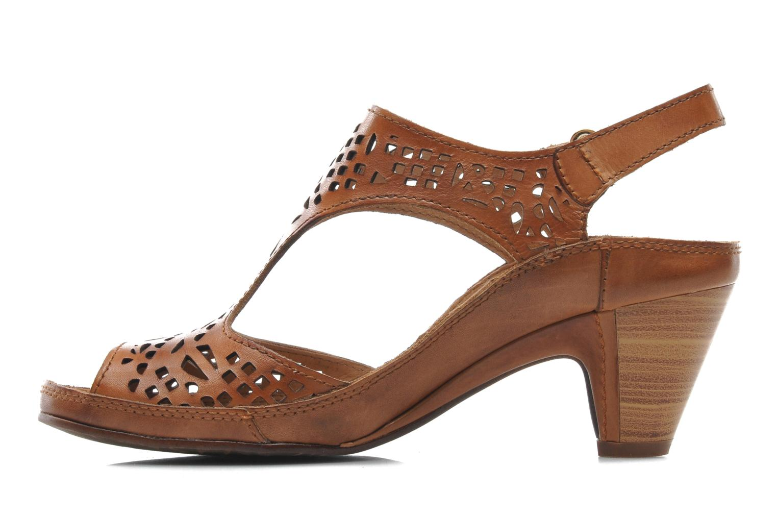 Sandals Pikolinos Java W5A-0744 Brown front view