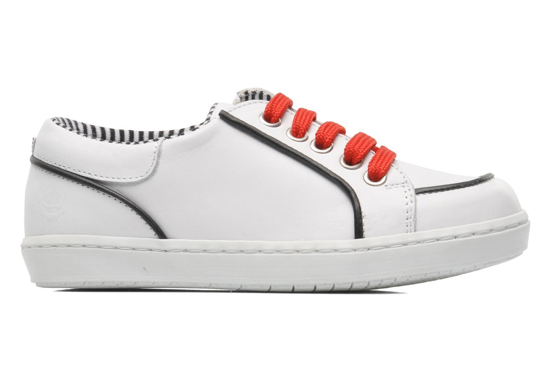 Sneaker Petit bateau Luck weiß ansicht von hinten