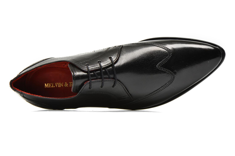 Zapatos con cordones Melvin & Hamilton Toni 2 Negro vista lateral izquierda