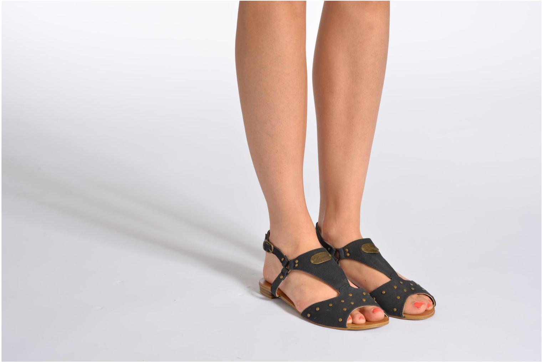Sandales et nu-pieds Kaporal Paddy Blanc vue bas / vue portée sac