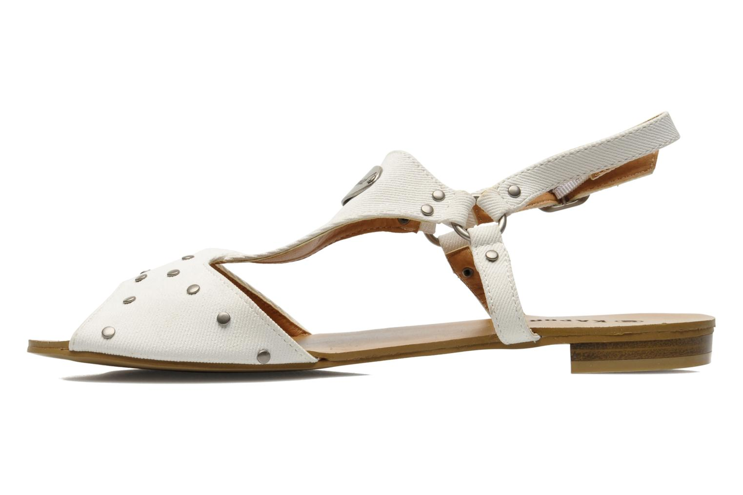Sandals Kaporal Paddy White front view