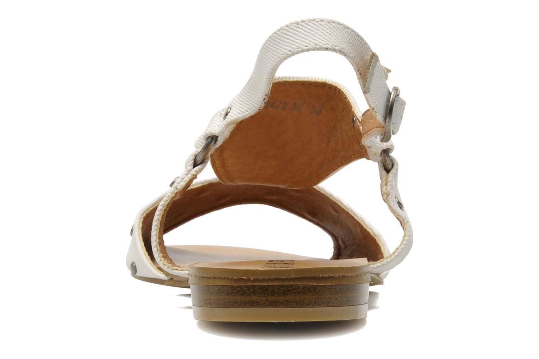 Sandales et nu-pieds Kaporal Paddy Blanc vue droite