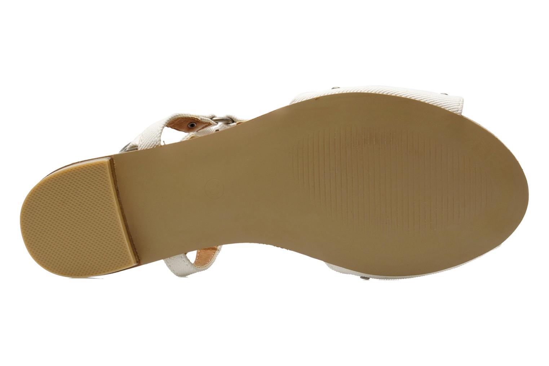 Sandales et nu-pieds Kaporal Paddy Blanc vue haut