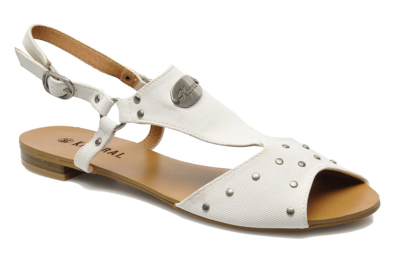 Sandales et nu-pieds Kaporal Paddy Blanc vue détail/paire