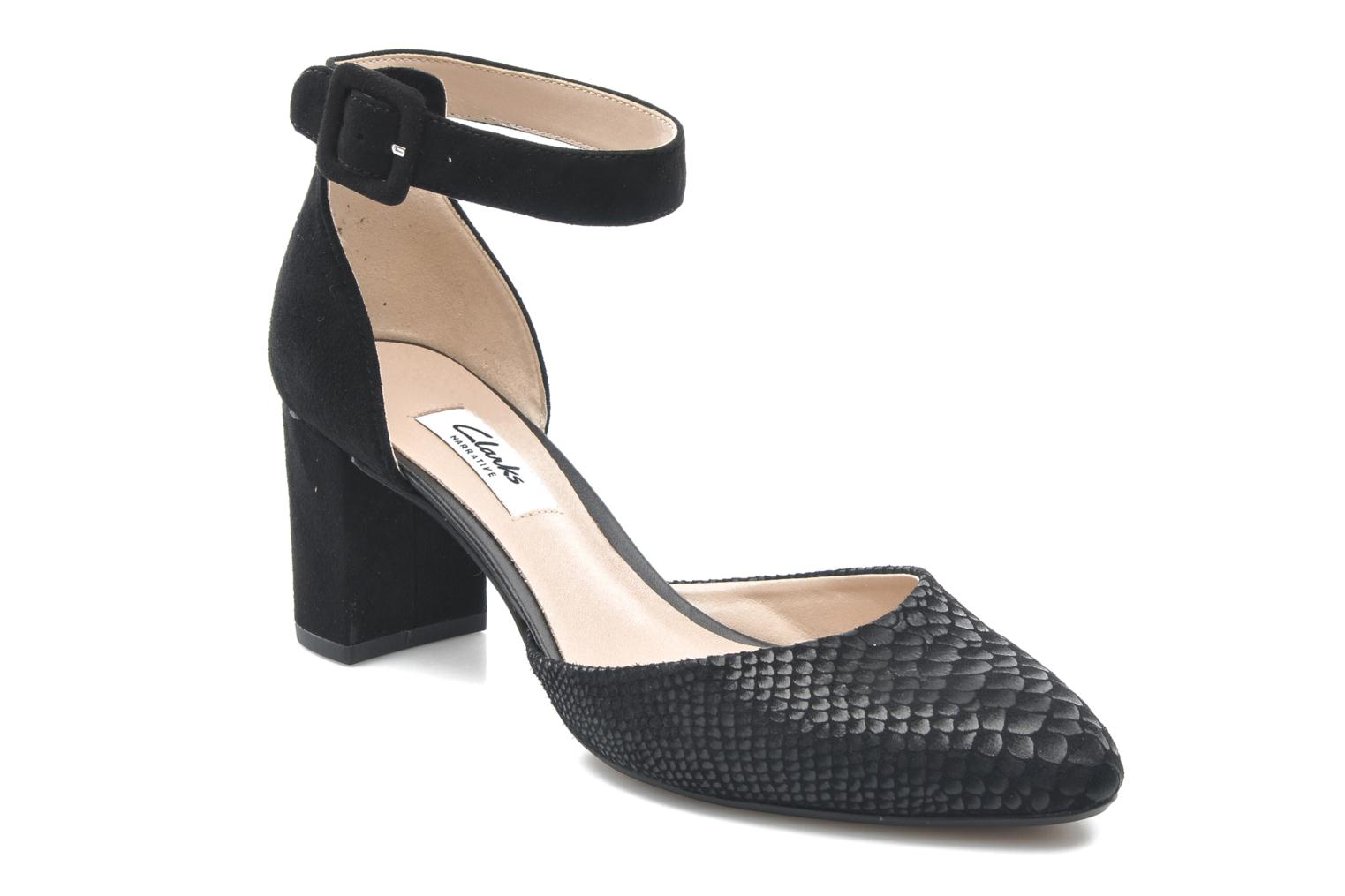 High heels Clarks Blissful Charm Black detailed view/ Pair view